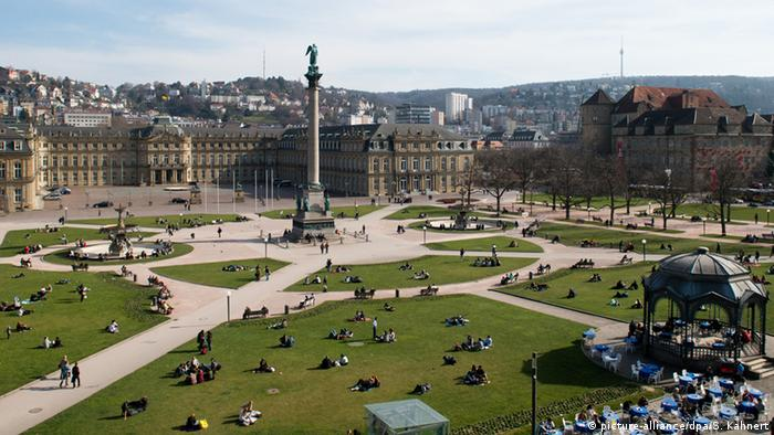 Stuttgart Baden-Württemberg - Schlossplatz with the New Castle