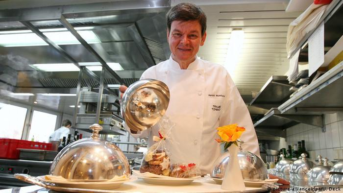 Harald Wohlfahrt in his Schwarzwaldstube restaurant