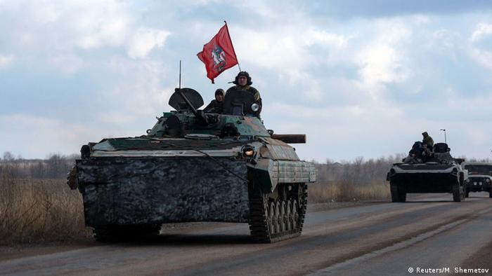 Kämpfe in der Ostukraine Separatisten 4.2.2015