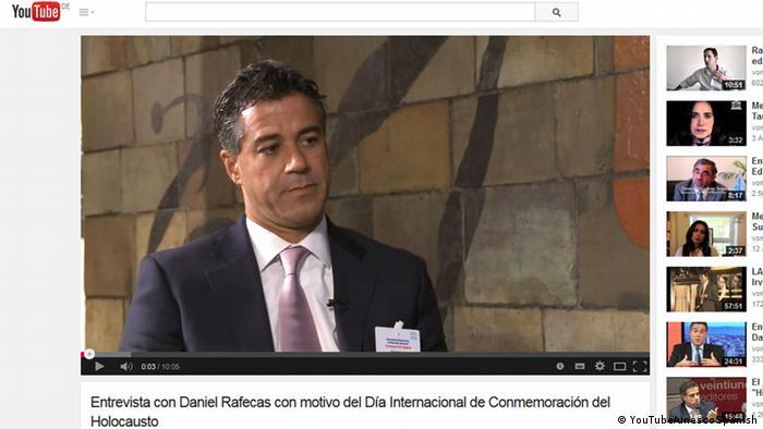 Screenshot YouTube Daniel Rafecas
