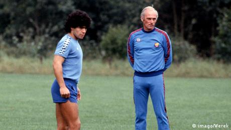 Udo Lattek mit Diego Armando Maradona