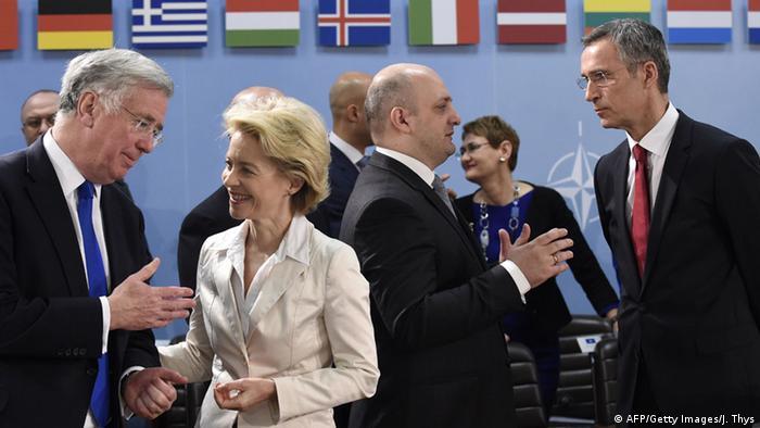 На встрече министров обороны стран НАТО в Брюсселе, 5 февраля