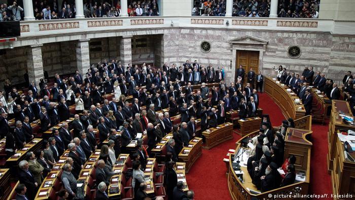 Griechenland Parlament Vereidigung der Abgeordneten 05.02.2015