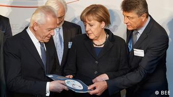 German Chancellor Angela Merkel receives the study