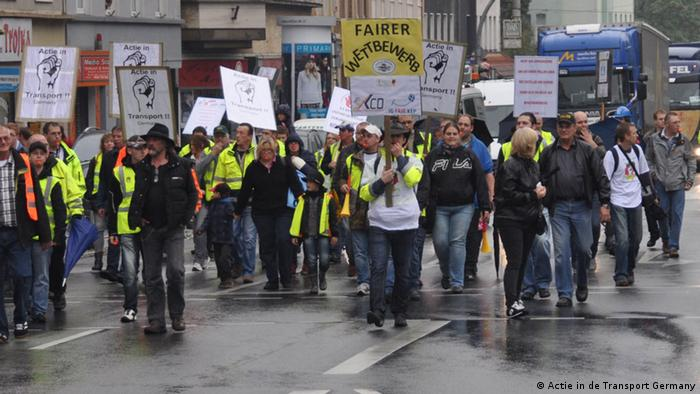 Deutschland Demonstration Aktion in de Transport in Germany