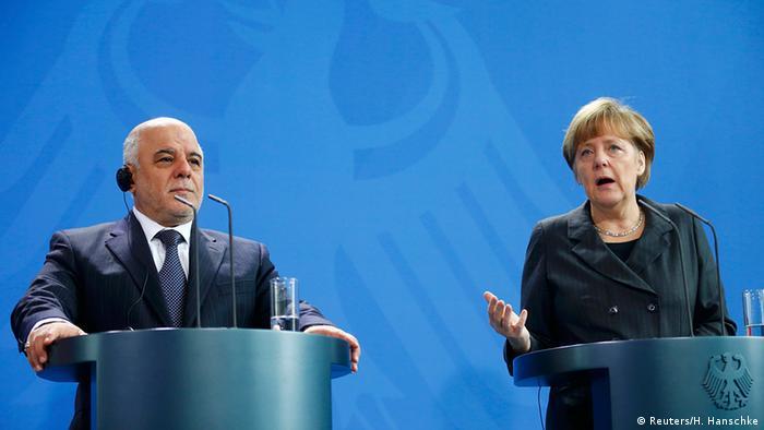 Deutschland Irak Ministerpräsident Haider al-Abadi bei Angela Merkel in Berlin Pressekonferenz