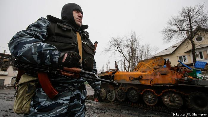 Ostukraine Krise Kämpfe bei Wuhlehirsk