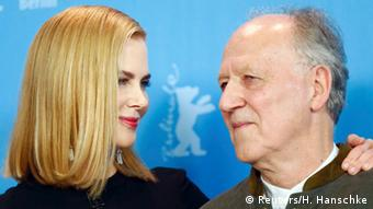Nicole Kidman and Werner Herzog at the Berlinale permiere of Queen of the Desert, Copyright: Reuters/H. Hanschke