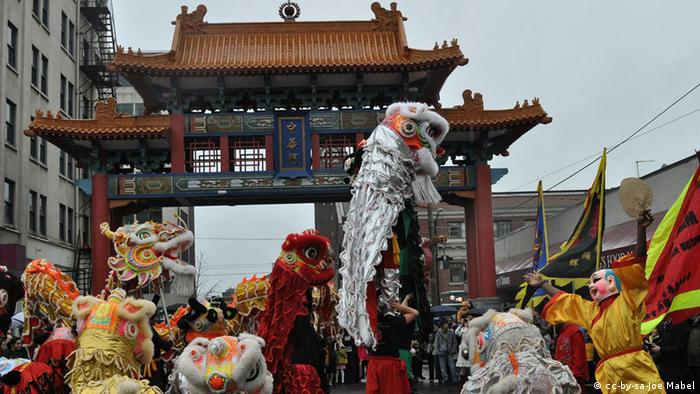 Seattle, Washington. Chinatown Neujahrsfest
