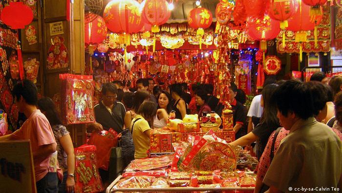 Singapur Markt Neujahrsfest