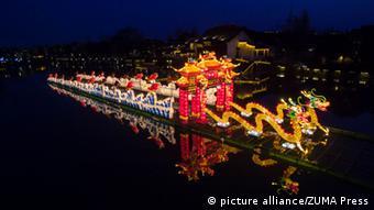 China Wuzhen Schiff Illumination Neujahrsfest 2015
