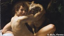 Caravaggio Johannes der Täufer AUSSCHNITT
