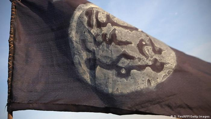 A Boko Haram flag. Photo: STEPHANE YAS/AFP/Getty Images