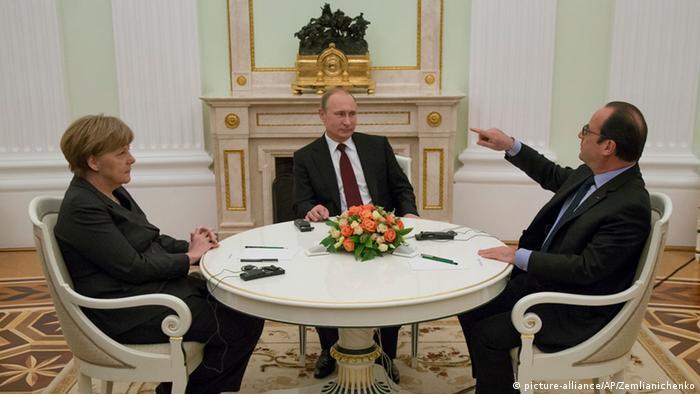 Merkel und Hollande zu Gesprächen mit Putin in Moskau