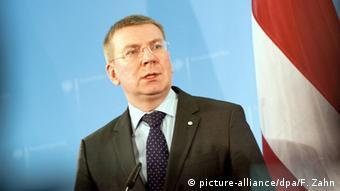 Deutschland Lettlands Außenminister Edgars Rinkevics