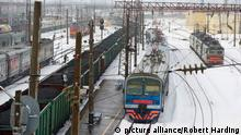 Russland Bahnhof im Winter