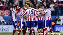 Spanien Fussball Club Atlético de Madrid gegen Real Madrid CF
