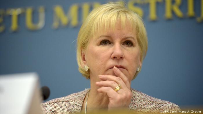 Lettland Schwedens Außenministerin Margot Wallström