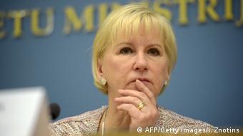 Lettland Schwedens Außenministerin Margot Wallström (Foto: Getty/AFP)