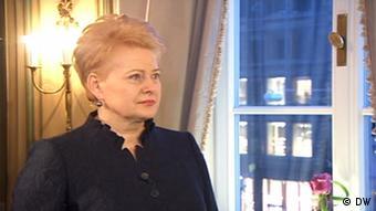 Dalia Grybauskaite Litauen München Sicherheitskonferenz Screenshot DW