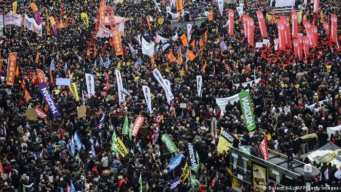 Türkei Istanbul Demonstration Aleviten