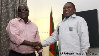 Afonso Dhlakama und Filipe Nyusi Mosambik