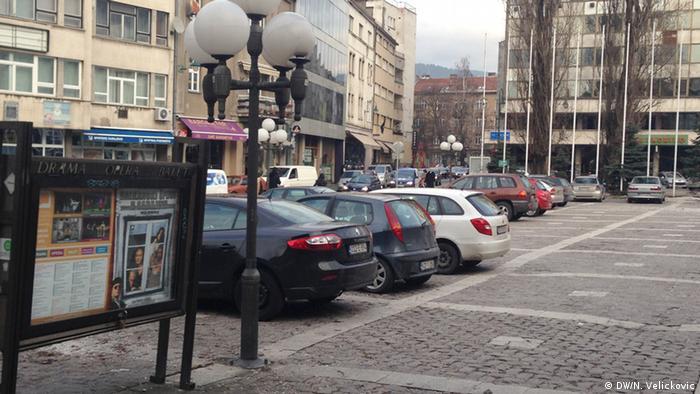 Parkplatz in Sarajevo Bosnien und Herzegowina