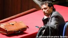 Francesco Schettino, captain of the Costa Concordia cruise ship, looks on during a trial in Grosseto, central Italy, in this July 17, 2013 file photo. An Italian prosecutor has asked a court to sentence the captain of the Costa Concordia to more than 26 years in jail for his role in the 2012 disaster that killed 32 people. The defence is expected to respond in court starting February 9, with a verdict expected thereafter. REUTERS/Giampiero Sposito/Files (ITALY - Tags: DISASTER MARITIME) ATTENTION EDITORS - THIS PICTURE IS PART OF PACKAGE 'COSTA CONCORDIA CAPTAIN VERDICT'. TO FIND ALL 20 IMAGES SEARCH 'CONCORDIA VERDICT'