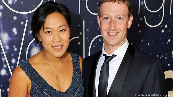 Breakthrough Prize co-founders Priscilla Chan and Mark Zuckerberg of Facebook