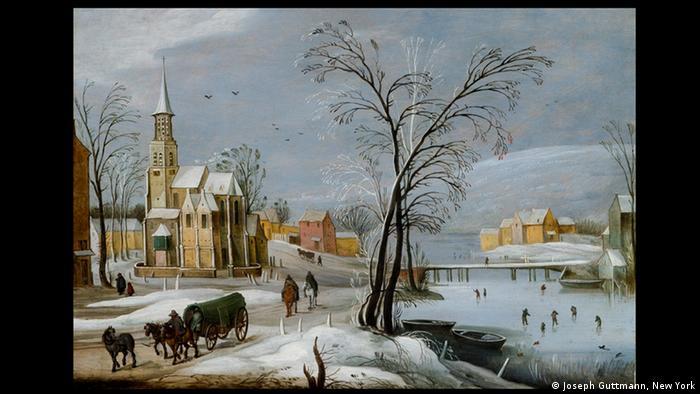Ян Брейгель Младший. Фламандская деревня зимой