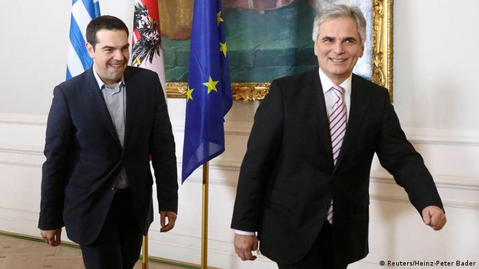 Alexis Tsipras and Werner Faymann
