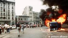 Rumänien Bukarest Bergarbeiteraufstand Armee 1990