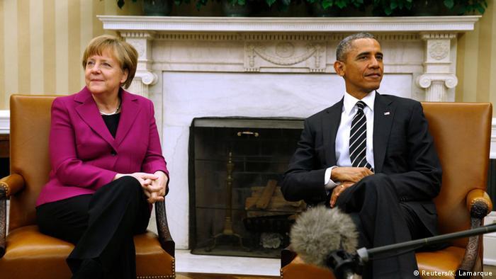 Merkel bei Obama 09.02.2015