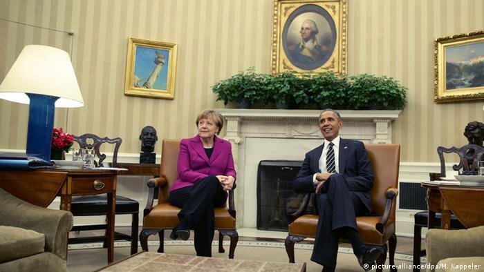 Angela Merkel je 9.2.2015. u Bijeloj kući posjetila Baracka Obamu