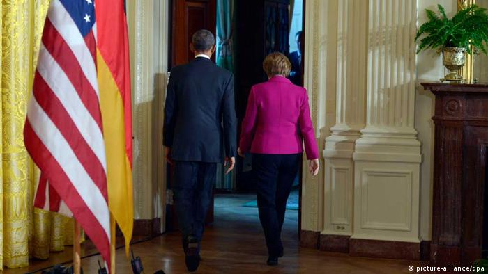 Merkel and Obama leaving the press conference 09.02.2015