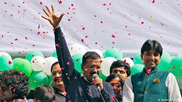 Indien Wahlen im Bundesstaat Neu Delhi