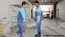 Gastarbeiter aus Tadschikistan arbeiten in Russland