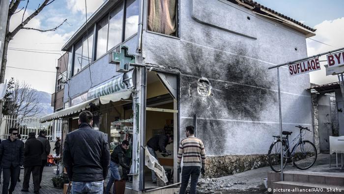 Albanien Tirana Bombenexplosion 10.02.2015