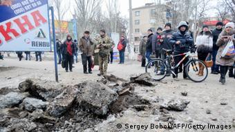 Ukraine Raketenbeschuss Kramatorsk 10.02.2015
