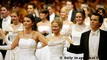 VIENNA, AUSTRIA - FEBRUARY 19: Debutantes and their escorts attend the Vienna Opera Ball at the city's opera house February 19, 2004 in Vienna, Austria. (Photo Sean Gallup/Getty Images)