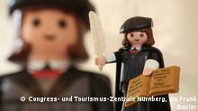 Deutschland Vorstellung Playmobil-Spielfigur Martin Luther in Nürnberg