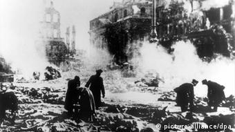 Deutschland Dresden Zerstörung Zweiter Weltkreig