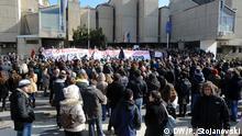 11.02.2015 * Studentenproteste in Skopje, Mazedonien. Von Petr Stojanovski, Korrespondent und Fotograf für DW Mazedonisch aus Mazedonien.