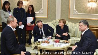 Weißrussland Minsk Ukraine Konferenz Putin Merkel Hollande Poroschenko