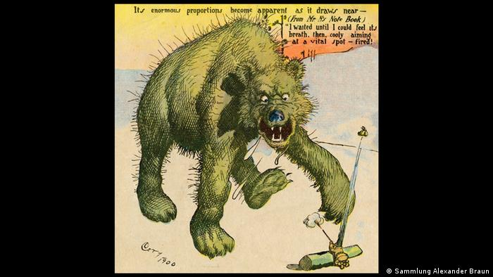 Bildergalerie Ausstellung Going West!, His First Grizzly Sonntagsseite der New York World vom 27. Januar 1901