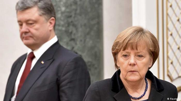 Меркель та Порошенко під час саміту у Мінську (фото з архіву)