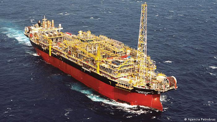 Navio-plataforma da Petrobras