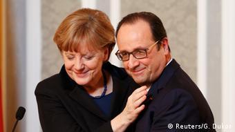 Ukraine Konferenz in Minsk Merkel und Hollande PK