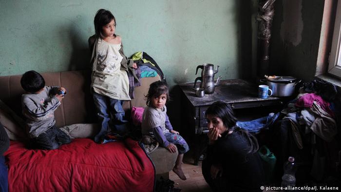 Kosovo Plementina Abgeschobene Roma Familie