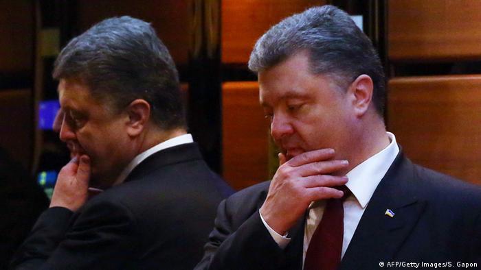 Petro Poroschenko nachdenklich